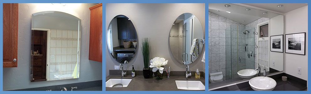 Custom Frameless Bathroom Mirrors - We make any size and guarantee safe delivery