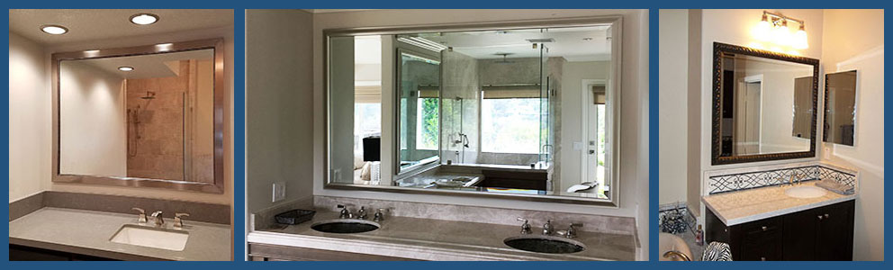 Custom Bathroom Vanity Mirrors - Choose Style, Color and Size