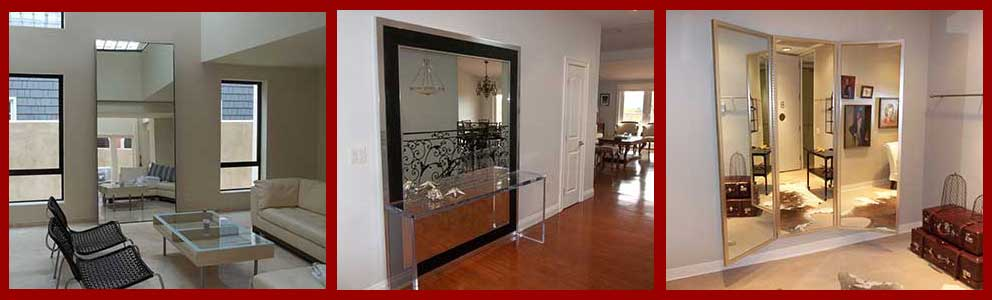 Custom Leaning Floor Mirrors - Three Panel Mirrors
