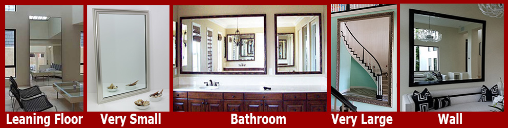 Create a custom mirror in any size from hundreds of frame options. Personalize A Leaning Floor Mirror, 