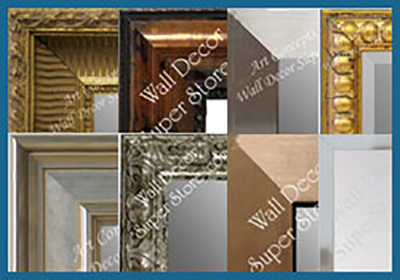 shop custom mirrors with a metallic finish - gold, silver bronze and more