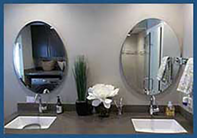 Custom frameless mirrors - make any size - square, rectangle, oval or round