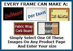 Every frame shown as cork - select the combination option on the product page