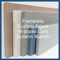 CUSTOM FRAMELESS FABRIC CORK BOARDS