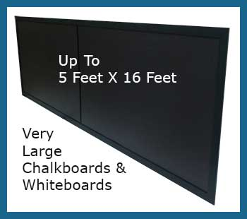 very large custom chalkboards - up to 5 feet x 16 feet