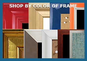 Shop by color of the frame for chalkboards, cork boards, white boards, combination boards, fabric wrapped cork boards