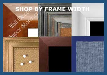 Shop custom wallboards by width of the frame - very thin to very wide