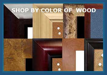 Shop By Wood Finish Frames for chalkboards, cork boards, white boards, combination boards, fabric wrapped cork boards