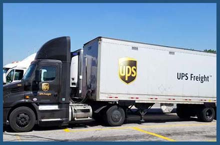 UPS freight is used to ship our vary large crates to customers around the country.
