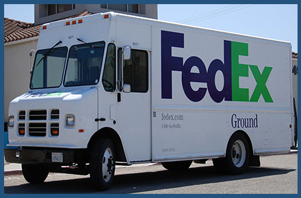 We use FedEx ground shipping. You may contact FedEx for tracking status.
