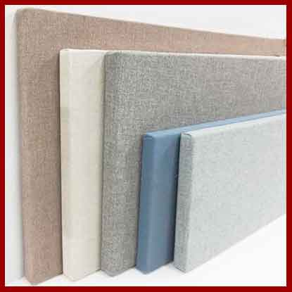 Creadt a custom frabic wrapped corkboard or wall panel - 12 x 12 inches to 5 feet x 12 feet - 50 fabric color options.