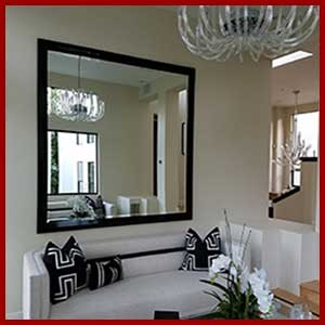 Visit our custom mirror headquarters - create a custom framed mirror in any size - choose style and color