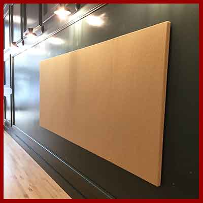 Large fabric wrapped wall panels - create one as large as 5 feet x 12 feet or several to cover a very large wall.  Made exactly to your size.