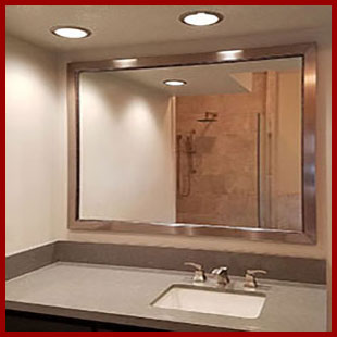 custom bathroom mirror menu - hundreds of options for style, color, size and price - framed or frameless
