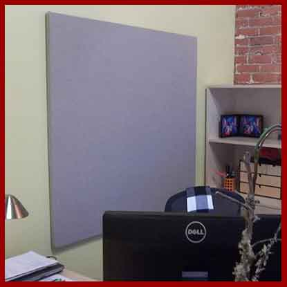 Small to medium size fabric wrapped cork board - great for a home office - or any room in your home.