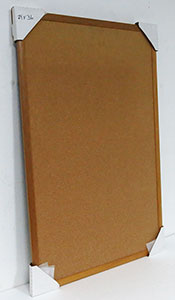 WSCO-266 SOLD Dark Natural 24 x 36 Natural Self Healing Cork Board