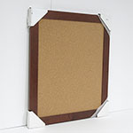 WSCO-276 Rich Cherry Frame 23 1/2 x 28 / Natural Self Healing Cork Board