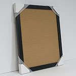 WSCO-305 Matte Black 22 3/4 x 26 3/4 Natural Self Healing Cork Board