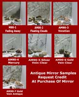 Antique Mirror Samples Set of two