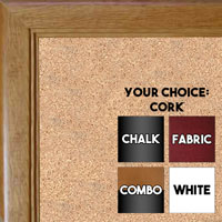 BB115-4 Honey Pecan Small To Medium Custom Cork Chalk or Dry Erase Board