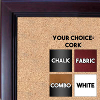 BB115-5 Mahogany Small To Medium Custom Cork Chalk or Dry Erase Board