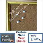 BB129-1 French Gold With Small  Beads Small To Medium Custom Cork Chalk or Dry Erase Board