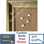 BB130-2 Discontinued Crushed Gold Medium To Large Custom Cork Chalk or Dry Erase Board Medium To Large