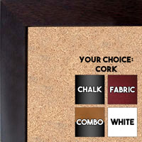 BB131-1 Dark Walnut Small To Medium Small To Medium Custom Cork Chalk or Dry Erase Board
