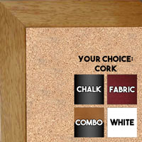 BB131-2 Honey Maple  Small To Medium Small To Medium Custom Cork Chalk or Dry Erase Board