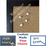 BB131-4 Espresso Coffee Brown Small To Medium Custom Cork Chalk or Dry Erase Board