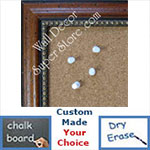 BB134-1 Distressed Western Walnut With Beads Custom Cork Chalk or Dry Erase Board Medium To Large