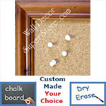 BB145-1 Distressed Walnut Pine Custom Cork Chalk or Dry Erase Board Medium To Large