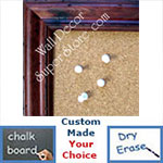 BB146-1 Pitted Cherry Distressed Pine Custom Cork Chalk or Dry Erase Board Medium To Large