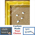 BB146-2 Pitted Yellow Pine Custom Cork Chalk or Dry Erase Board Medium To Large