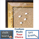 BB154-2 Distressed Light Pine With Dark Border Custom Cork Chalk or Dry Erase Board Medium To Large