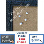 BB173-1 Ornate Black Small To Medium Custom Cork Chalk or Dry Erase Board