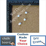 BB179-1 Ornate Dark Espresso Small To Medium Custom Cork Chalk or Dry Erase Board