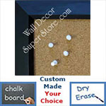 BB183-1 Beveled Matte Black Custom Cork Chalk or Dry Erase Board Medium To Large