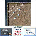BB187-1 Midnight Black Small To Medium Custom Cork Chalk or Dry Erase Board