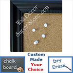 BB192-1 Matte Black With Beads Custom Cork Chalk or Dry Erase Board Medium To Large