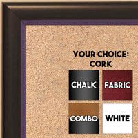 BB1400-6 Black With Purple Lip Small To Medium Custom Cork Chalk or Dry Erase Board
