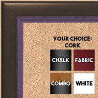 BB1401-6 Black With Purple Lip Custom Cork Chalk or Dry Erase Board Medium To Large