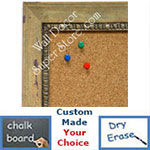 BB1402-2 Distressed Ochre Lily Custom Cork Chalk or Dry Erase Board Medium To Large