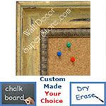 BB1403-2 Distressed Ochre Lily Medium To Extra Large Custom Cork Chalk Or Dry Erase Board