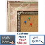 BB1403-3 Distressed Pink Carnation Medium To Extra Large Custom Cork Chalk Or Dry Erase Board