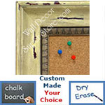 BB1403-4 Distressed  Spring Green Medium To Extra Large Custom Cork Chalk Or Dry Erase Board