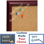 BB1409-4 Classic Mahogany Small To Medium Custom Cork Chalk or Dry Erase Board