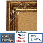 disc BB1412-1 Distressed French Gold Medium To Extra Large Custom Cork Chalk Or Dry Erase Board
