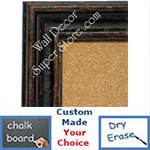BB1412-3 Distressed Rich Brown Medium To Extra Large Custom Cork Chalk Or Dry Erase Board