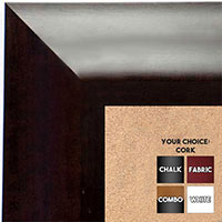 BB1420-2 Classicl Expresso Coffee Brown  Medium To Extra Large Custom Cork Chalk Or Dry Erase Board